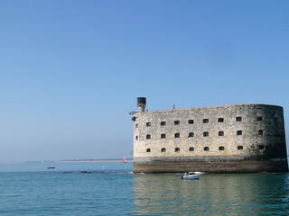 Foto auf AluDibond Befestigung Fort Boyard