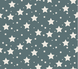 Abstract seamless pattern of a star