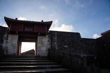 首里城の風景、沖縄のイメージ集