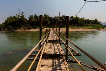 Bamboo bridge in Luang Prabang