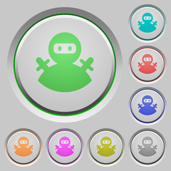 Ninja avatar push buttons