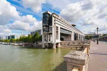 Bercy ministry of finance in Paris on a sunny day, France