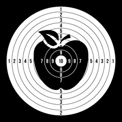 Sport Target Blank Vector. Classic Paper Shooting Round Aim, Target Illustration