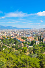 Aerial view of Athens, Greece