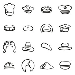 Hat Icons Set 1 Freehand