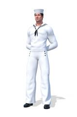 Naval Officer at Parade Rest