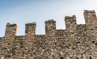 Castle wall fortification background