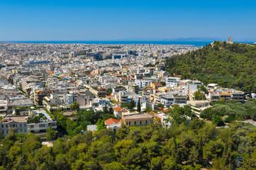 Skyline of Athens, Greece