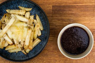 Bowl of Fresh Cheesy Chips With Gravy