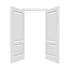 White Open Doors