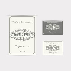 Wedding Invitation Card, Vector, Illustration, Eps File