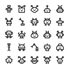 Robotic Vector Line Icons