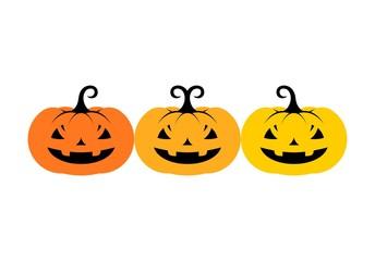Halloween pumpkin icon or logo in modern line style. Vector illustration.