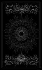 Tarot cards - back design, All-seeing eye