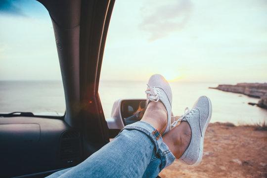 Freedom car travel concept