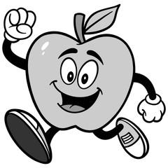 Poster Voor kinderen Apple Running Illustration