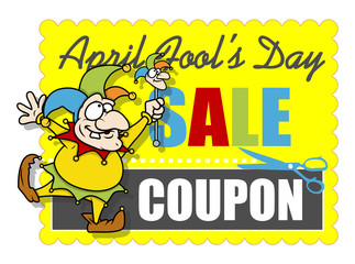 Funny Jester Dancing - April Fool's Day Sale Coupon