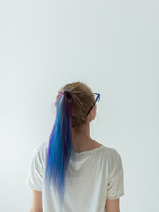 Girl with dyed hair
