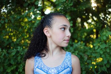 A beautiful young mixed race girl