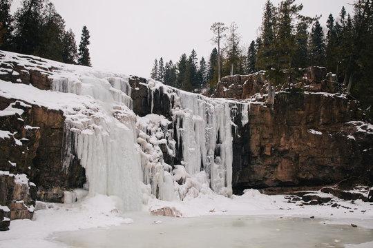 Frozen waterfall in Minnesota