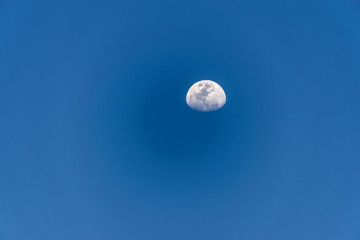 Moon waning from Cartagena de Indias, Colombia