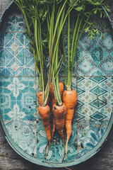 Carrots on a Old Tray