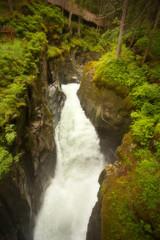 Waterfall in the narrow gorge