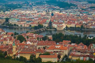 Veduta aerea della città vecchia di Praga in Boemia