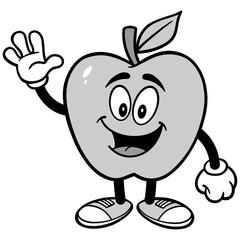 Apple Waving Illustration