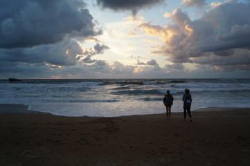 Biarritz, pays basque, Atlantique, surf, vague, ciel, phare,