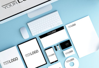 Stationery and Devices Mockup 2