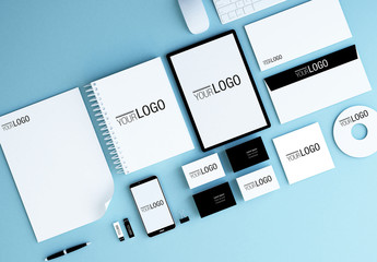 Stationery and Devices Mockup 3
