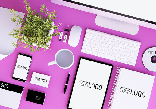 Stationery and Devices Mockup 4