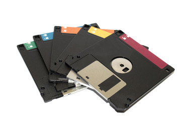 Pile Of Broken Destroyed Floppy Disc Files