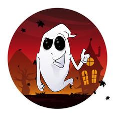 Ghost Halloween Concept