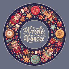 Vesele vanoce -  greeting cards. Xmas in the Czech Republic.