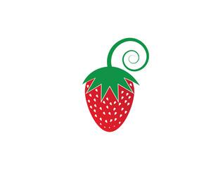 strawberry logo vector