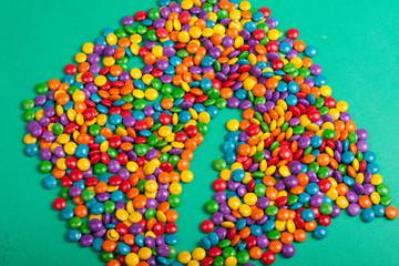 chocolate confete colorido