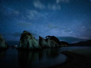浄土ヶ浜と天の川