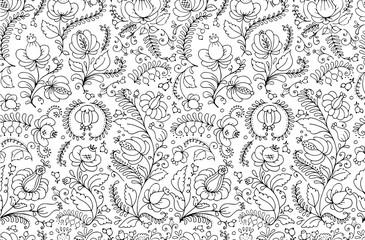 Floral ornament, sketch for your design