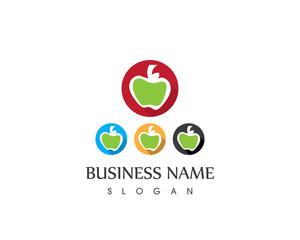 Apple Fruit Full Color Set Logo