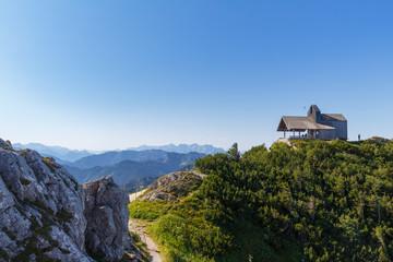 Church at summit of Mt. Hochfelln