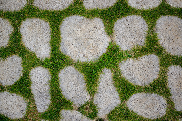 Background stones and grass
