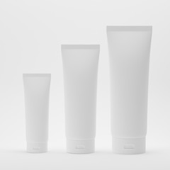 Cosmetic Tube On Isolated White Background