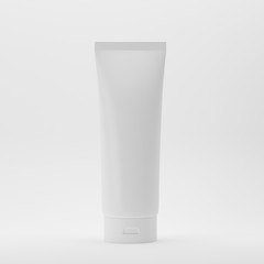 Cosmetic Tube On Isolated White Background