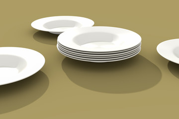 some plates on the table