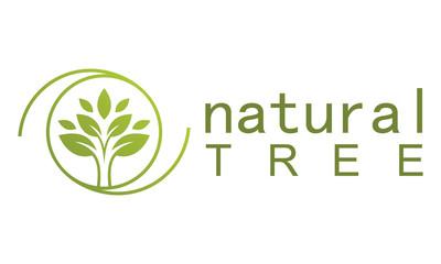 Green tree natural logo
