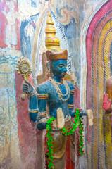 The medieval statue of Vishnu