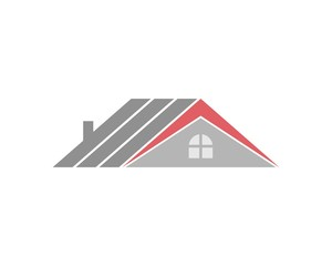roof building vector logo