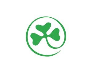 round green flower logo